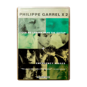 PHLIPPE GARREL x 2 DVD <br> I CAN NO LONGER HEAR THE GUITAR (1991) <br> + EMERGENCY KISSES (1989)
