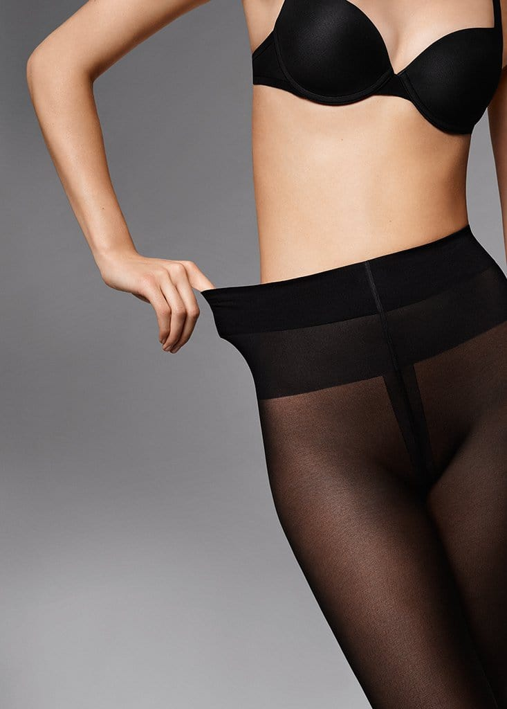 Wolford Comfort Cut 40 Tights (14555) Nearly Black - La Lingerie