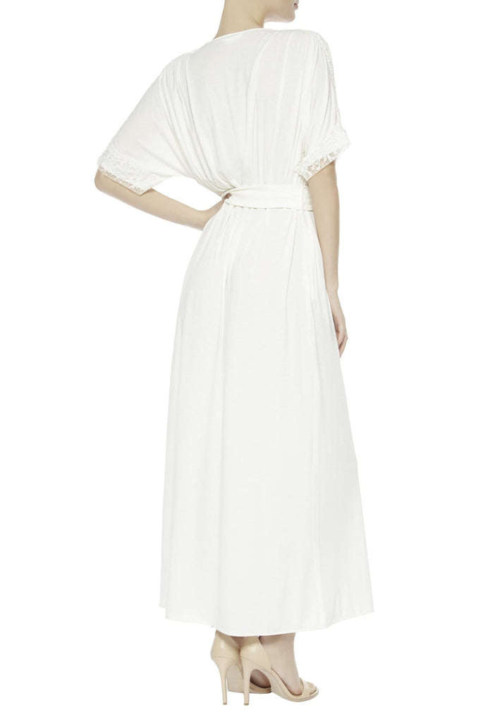 La Perla NILOUFER Long Night Gown (0017729) White Size L / 4 - La Lingerie