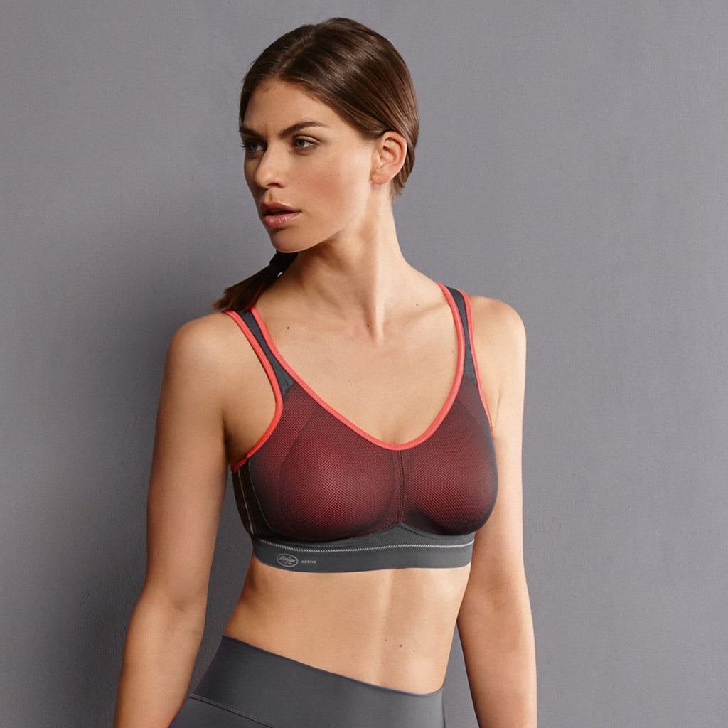 Anita Active Maximum Support Air Control Sports Bra (5533) Coral/Anthracite - La Lingerie