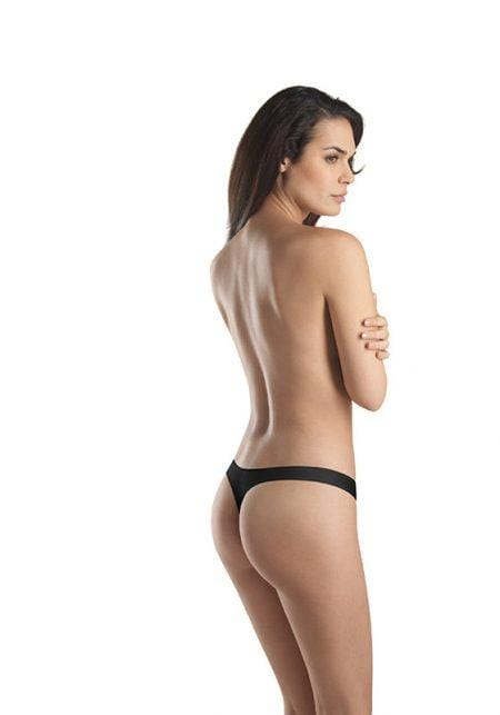 HANRO Cotton Sensation Thong (071322) Black - La Lingerie