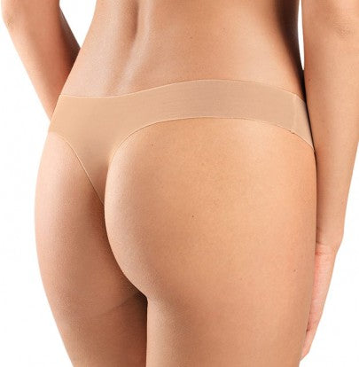 HANRO Invisible Cotton Thong (071225) Beige - La Lingerie