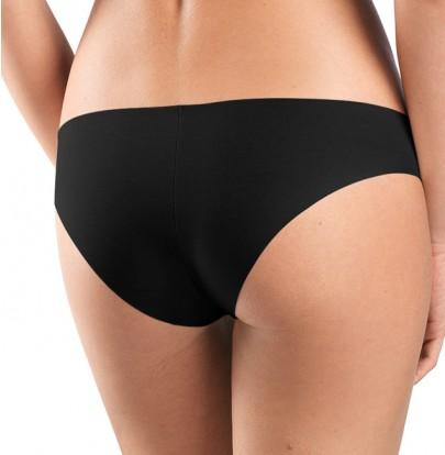HANRO Invisible Cotton Brazilian Panties (071226) Black - La Lingerie