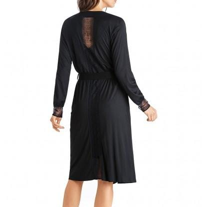 HANRO Amanda Sleep Gown (076639) Black - La Lingerie