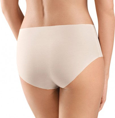 HANRO Invisible Cotton Full Brief (071228) Powder - La Lingerie