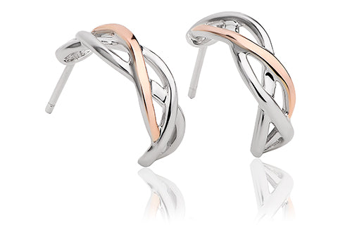 Clogau Eternal Love Weave Hoop Earrings 3SCMGHE