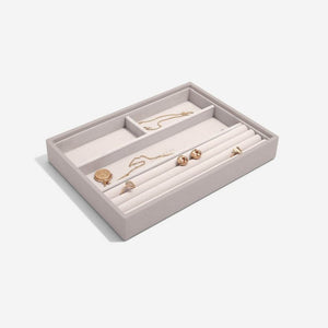 Ring and bracelet taupe Stacker jewellery tray