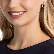 Load image into Gallery viewer, Swarovski Lovely Pierced Earrings, White, Rhodium plating 5466756
