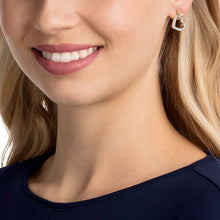 Load image into Gallery viewer, Swarovski Lovely Pierced Earrings, White, Rose Gold Plating