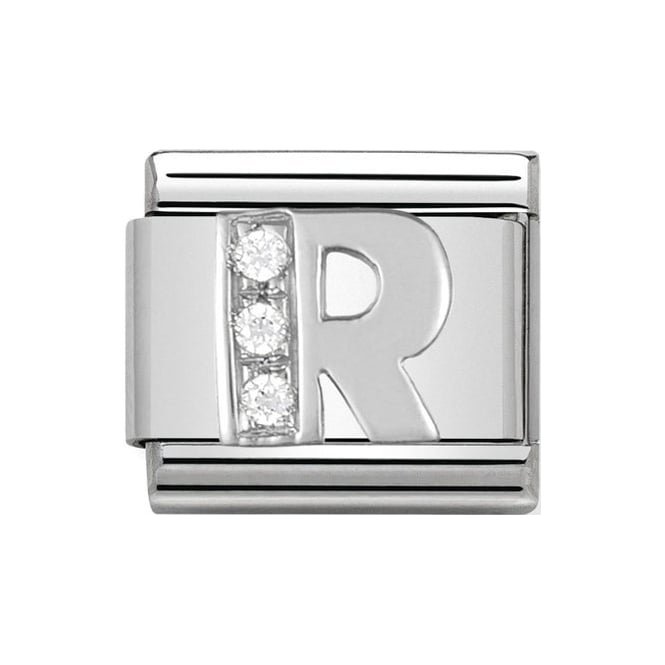 Nomination Letter R Silver Charm