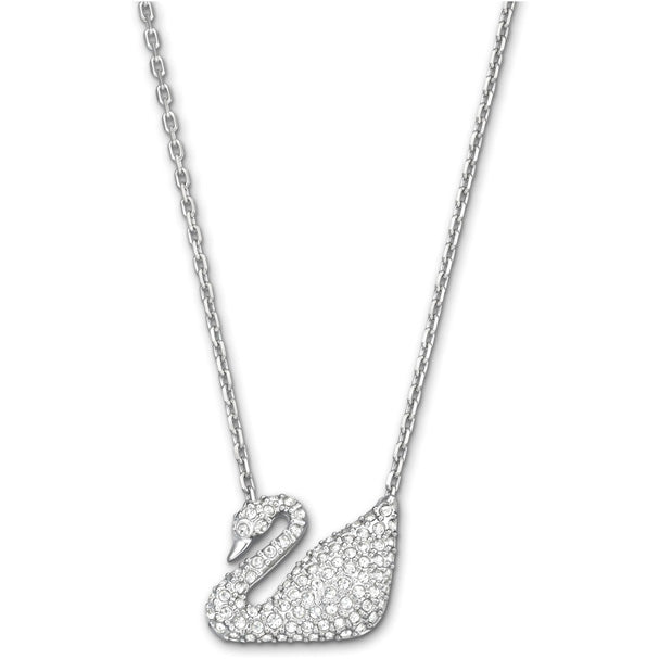 Swarovski Swan Necklace, White, Rhodium Plating 5007735