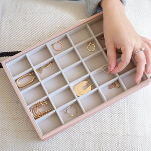 25 Section Stackers Jewellery Tray Blush