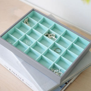 25 Section Dove Grey Stackers Jewellery Tray