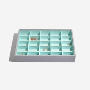 Stackers Dove Grey with Mint Lining 25 Section Tray