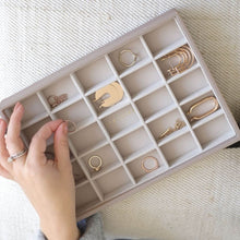 Load image into Gallery viewer, Stackers Jewellery Tray 25 Section Taupe