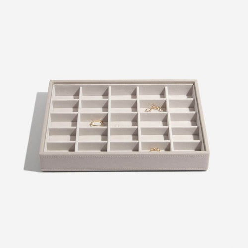 25 Section Taupe Stackers Jewellery Tray
