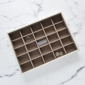 Stackers Jewellery Tray 25 Section Vanilla