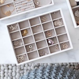 Stackers Jewellery Tray 25 Section White