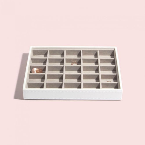 Stackers White 25 Section Jewellery Tray