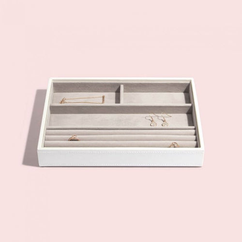 White Stackers Ring And Bracelet Jewellery Tray