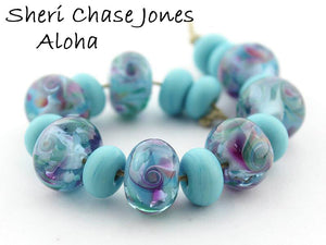 Aloha Frit blend  - beads by Sheri Chase Jones