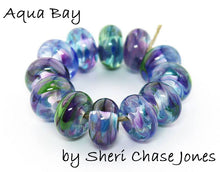 Load image into Gallery viewer, Aqua Bay Frit blend - beads by Sheri Chase Jones