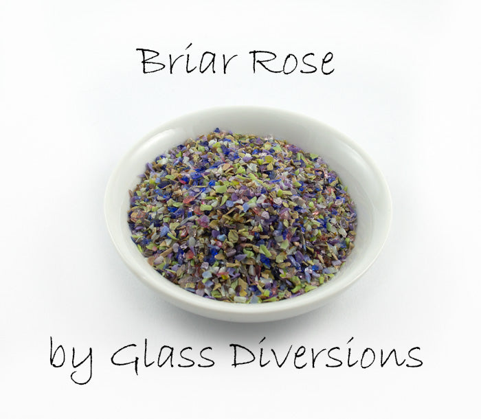 Briar Rose frit blend by Glass Diversions