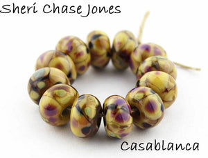 Casablanca Frit blend by Glass Diversions - beads by Sheri Chase Jones