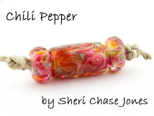 Glass Diversions Chili Pepper frit blend - Beads by Sheri Chase Jones