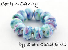 Load image into Gallery viewer, Cotton Candy frit blend by Glass Diversions - beads by Sheri Chase Jones