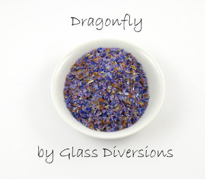 Dragonfly frit blend by Glass Diversions