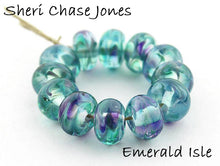 Load image into Gallery viewer, Emerald Isle frit blend by Glass Diversions - beads by Sheri Chase Jones