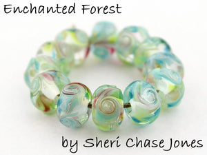 Enchanted Forest frit blend by Glass Diversions - beads by Sheri Chase Jones
