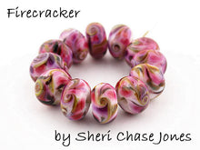 Load image into Gallery viewer, Firecracker frit blend by Glass Diversions - beads by Sheri Chase Jones