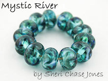 Load image into Gallery viewer, Mystic River frit blend by Glass Diversions - beads by Sheri Chase Jones