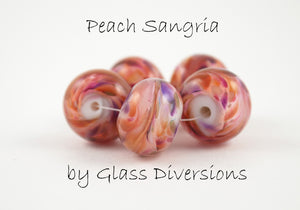Peach Sangria frit blend by Glass Diversions