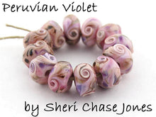 Load image into Gallery viewer, Peruvian Violet frit blend by Glass Diversions - beads by Sheri Chase Jones