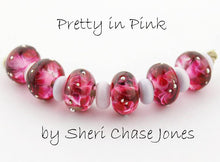 Load image into Gallery viewer, Pretty in Pink frit blend by Glass Diversions - beads by Sheri Chase Jones