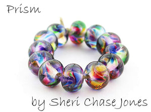 Prism frit blend by Glass Diversions - beads by Sheri Chase Jones