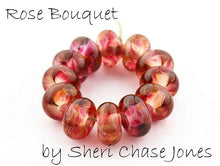 Load image into Gallery viewer, Rose Bouquet frit blend by Glass Diversions - beads by Sheri Chase Jones