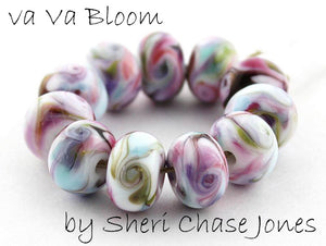Va Va Bloom frit blend by Glass Diversions - beads by Sheri Chase Jones