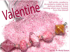 Valentine frit blend by Glass Diversions