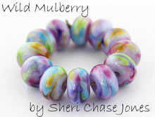 Load image into Gallery viewer, Wild Mulberry frit blend by Glass Diversions - beads by Sheri Chase Jones