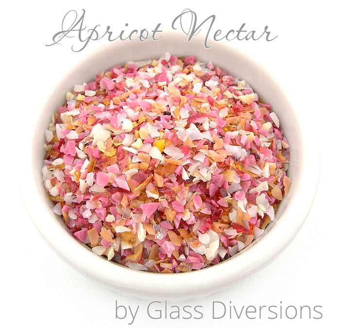 Apricot Nectar Frit blend by Glass Diversions