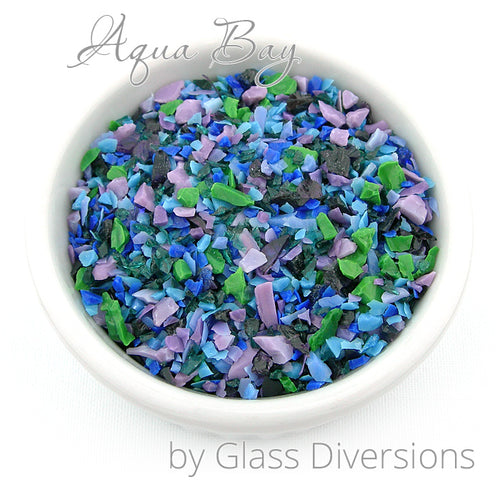 Aqua Bay Frit blend by Glass Diversions