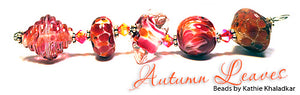 Autumn Leaves Frit blend - beads by Kathie Khaladkar