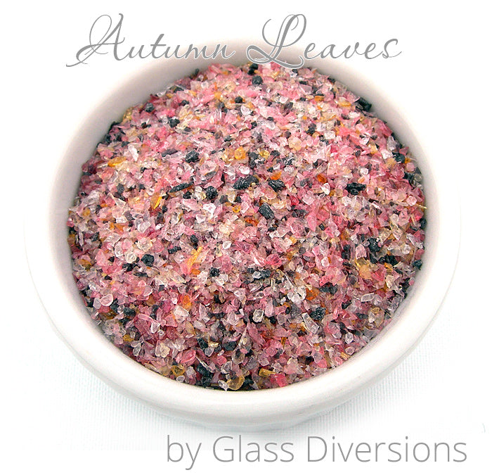 Autumn Leaves Frit blend by Glass Diversions