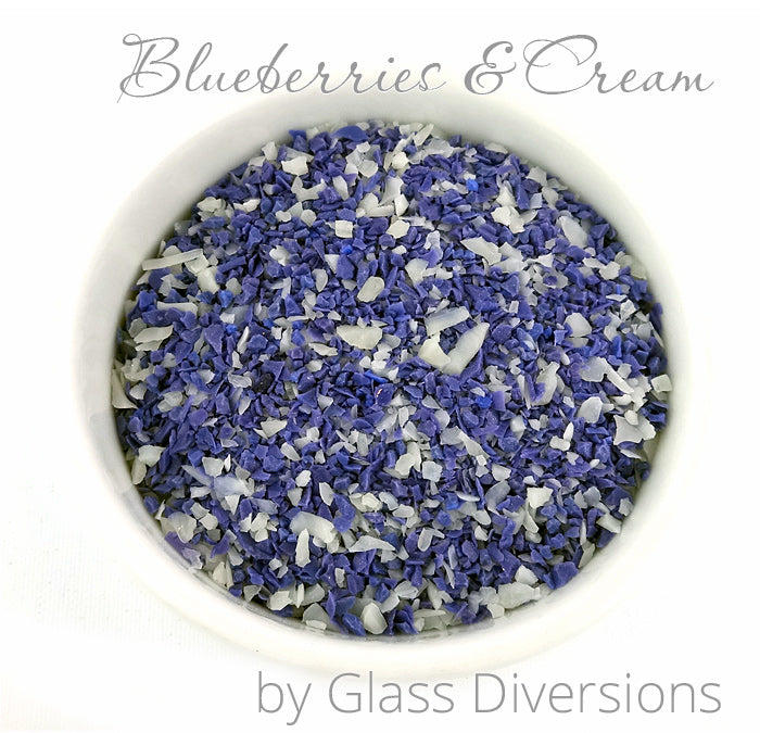 Blueberries and Cream Frit Blend by Glass Diversions