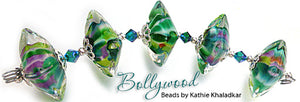 Bollywood Frit blend by Glass Diversions - beads by Kathie Khaladkar