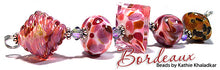 Load image into Gallery viewer, Bordeaux Frit blend by Glass Diversions - beads by Kathie Khaladkar